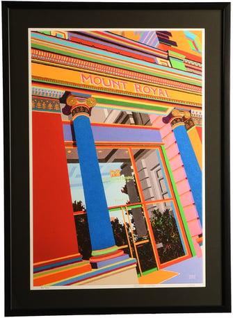 custom frame art from local artists