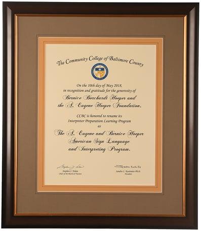 custom frame awards