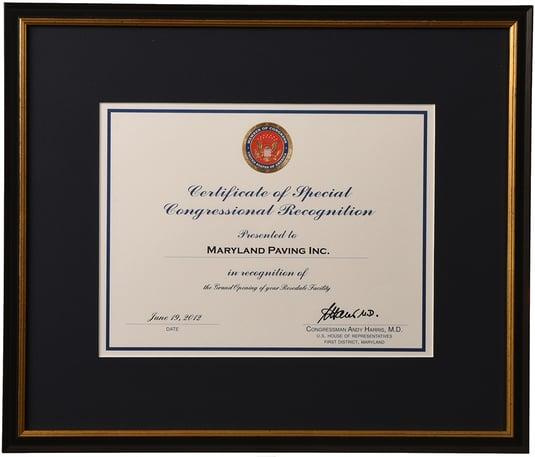 custom frame certificates