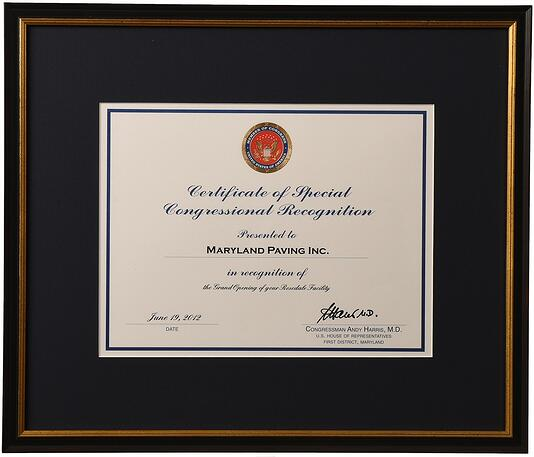 custom frame certificates