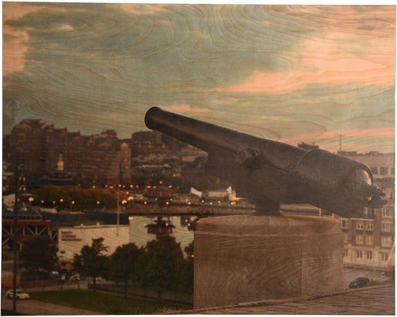 Custom frame city art