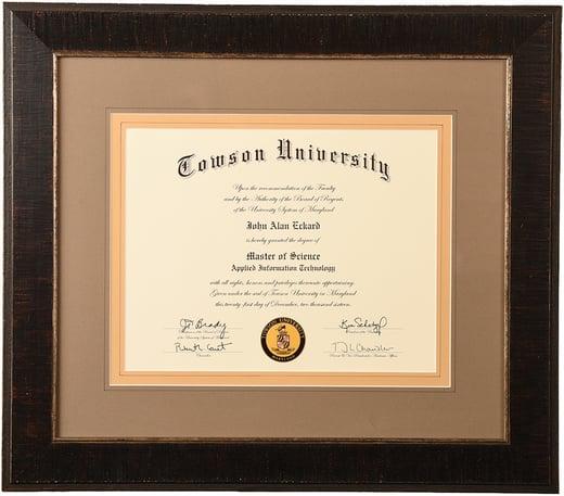 custom frame college degrees