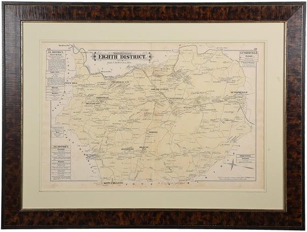 custom frame map