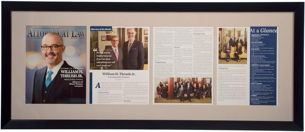 Custom framing publications